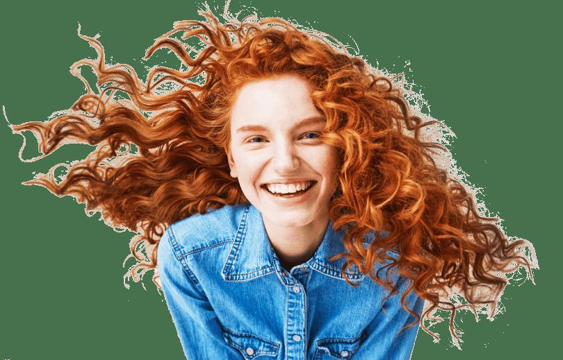 Ginger happy girl